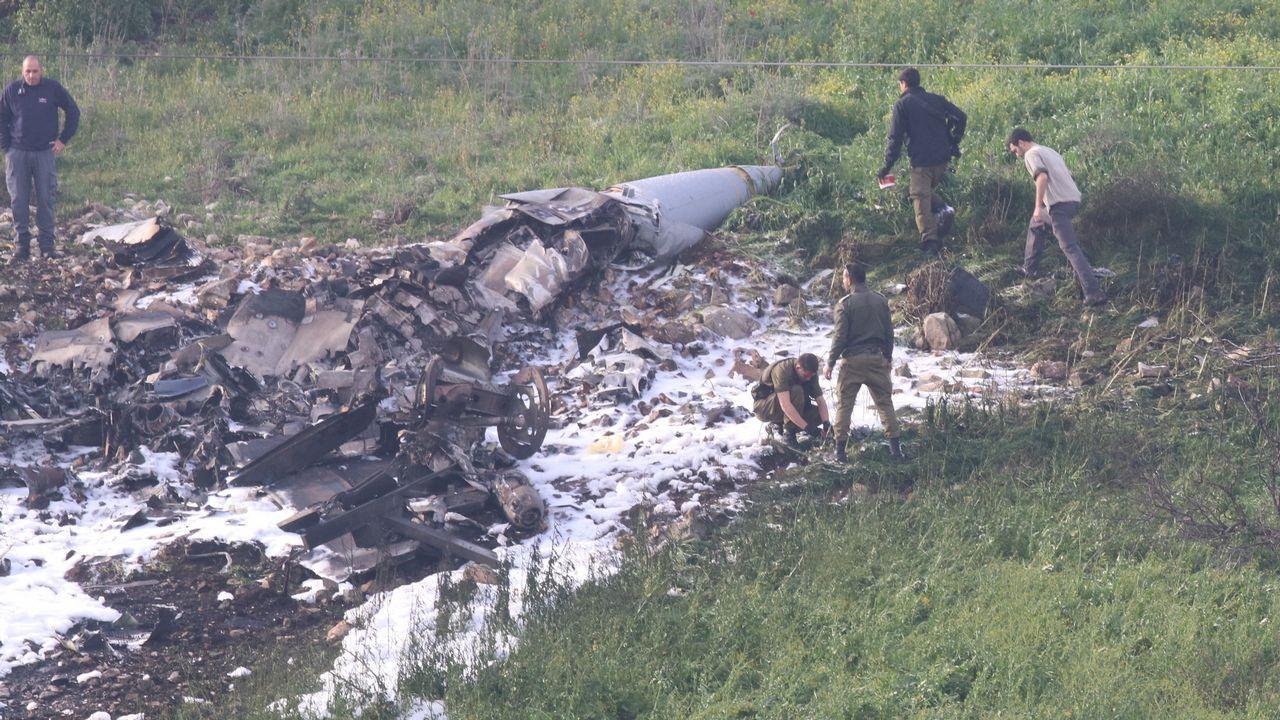 Avión F16 israelí derribado durante la misión