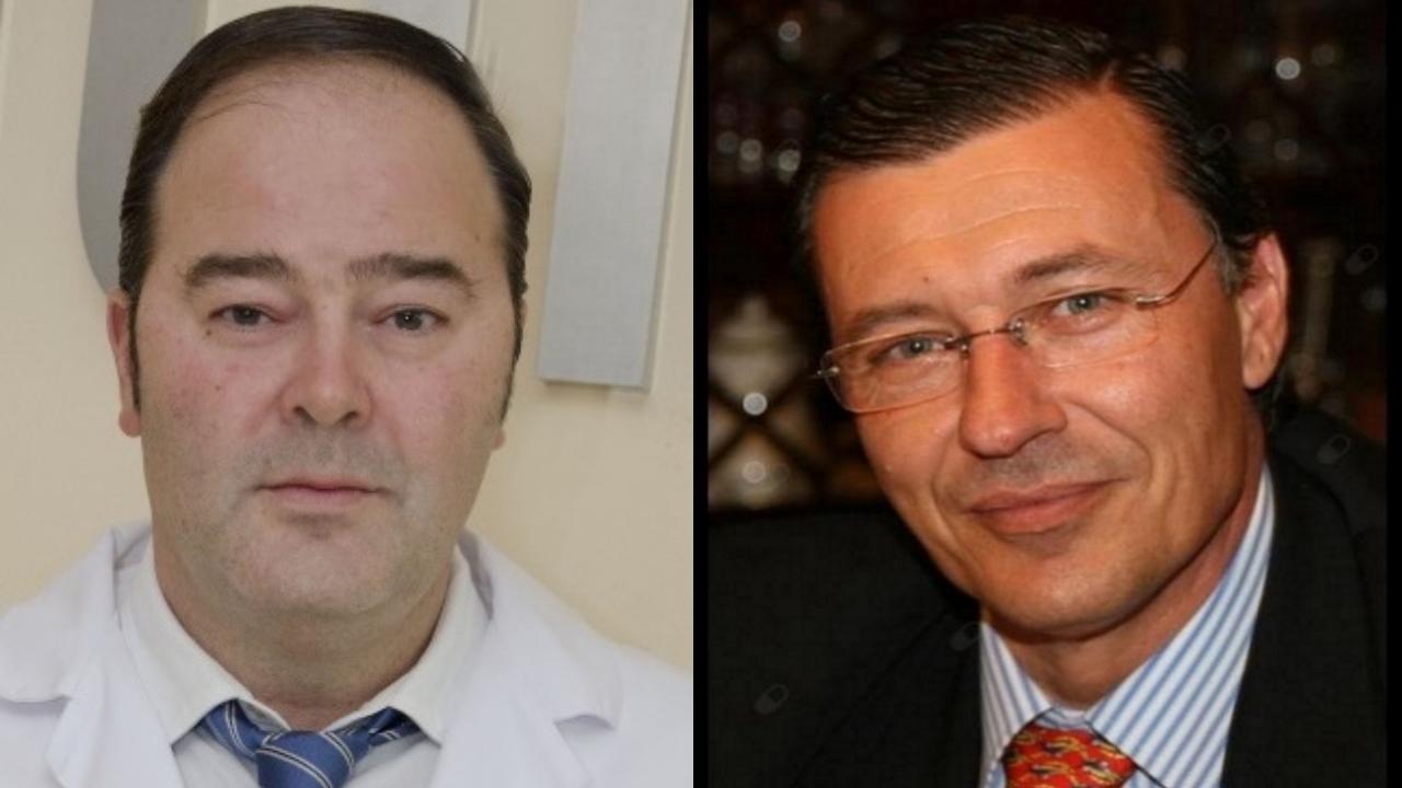 Pablo Somoza Digón, neurocirujano, y el cirujano general y digestivo Enrique Mena del Río