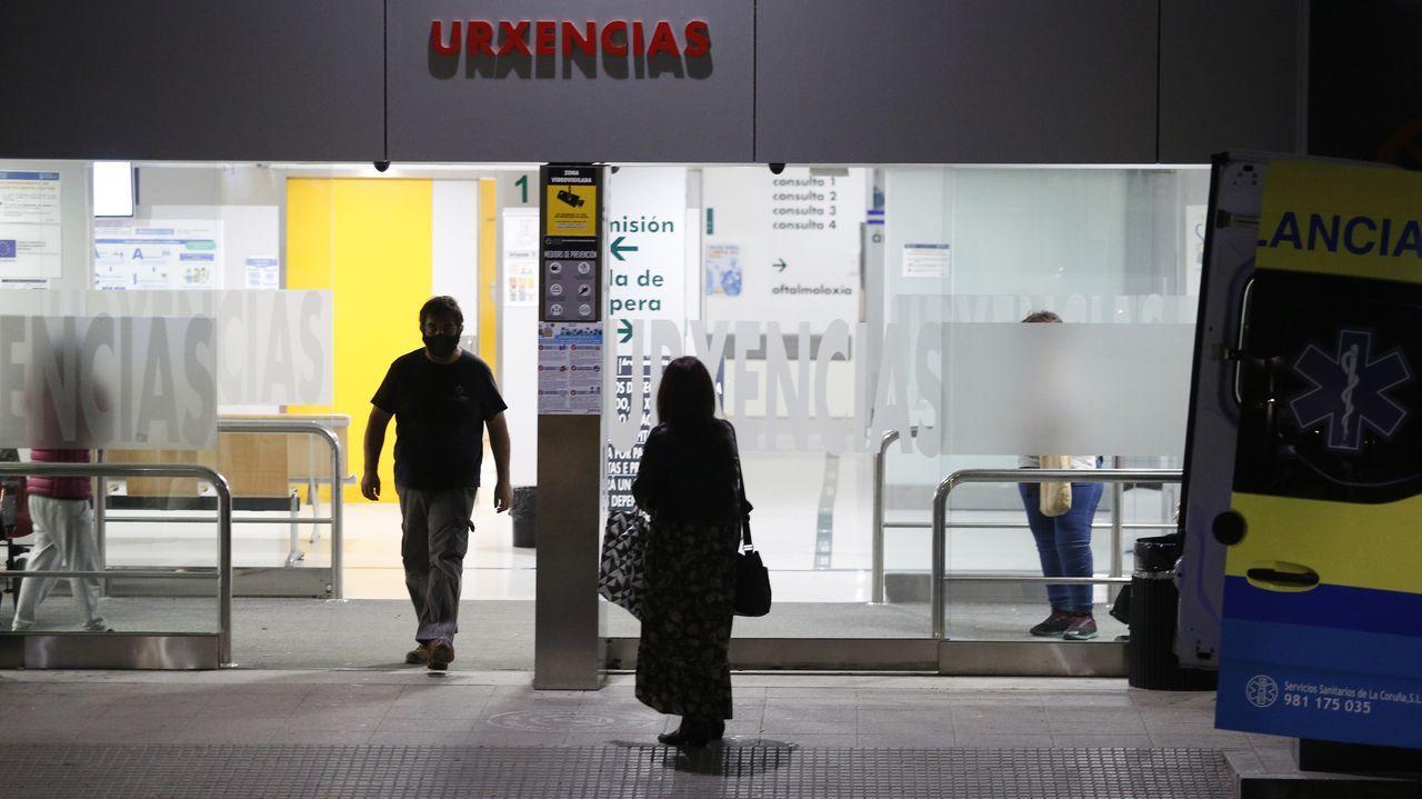 Entrada de Urgencias en el Hospital Universitario A Coruña (Chuac)