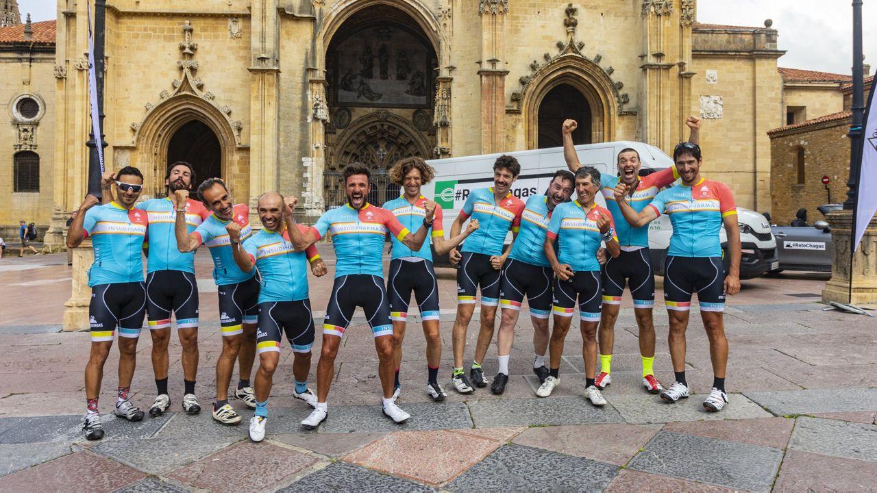 El coro de la Fundación Princesa, de Asturias a Colombia.#RetoChagas 2018. Chema Martínez y el equipo completaron los 790 kilómetros desde Madrid hasta Oviedo