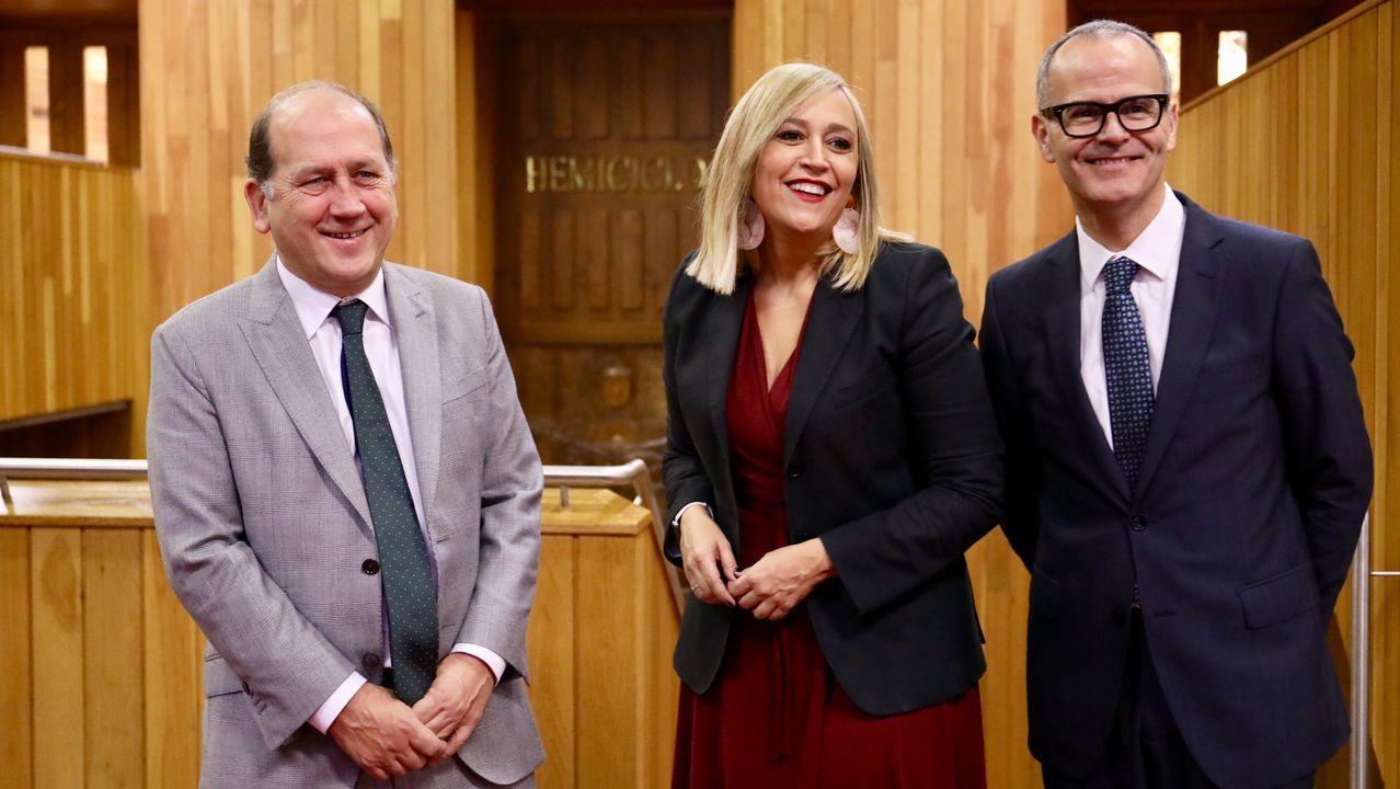 Leiceaga, Elena Muñoz y Jesús Vázquez