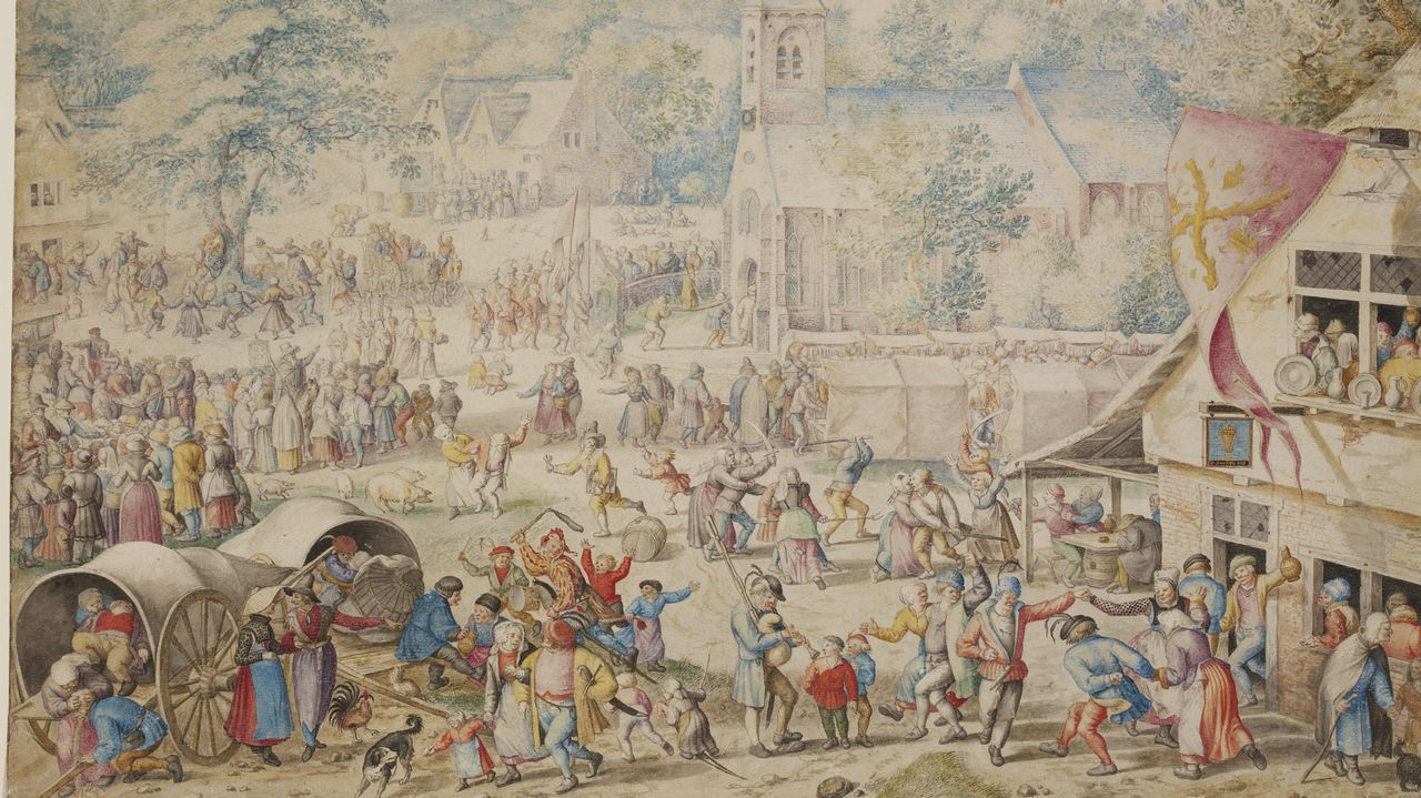 Así eranlos macrobotellones del siglo XVI.Alumnos del colegio Divina Pastora participan en el proyecto #SenLumes
