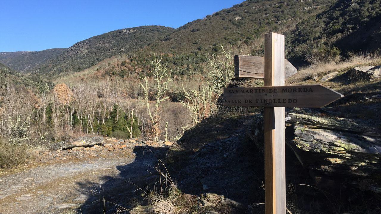 Río Ancares, a su paso por el valle de Finolledo, en el municipio de Vega de Espinareda