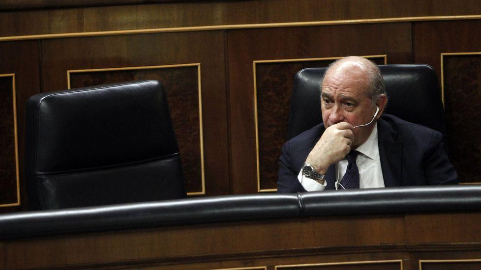 El PP propone a Jorge Fernández Díaz para presidir la Comisión de Exteriores.Eduardo Madina y Javier Fernández, en un mitin en Asturias.