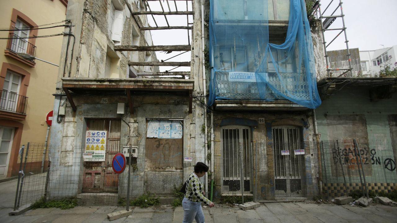 En foto de archivo, imagen de inmuebles en Ferrol Vello