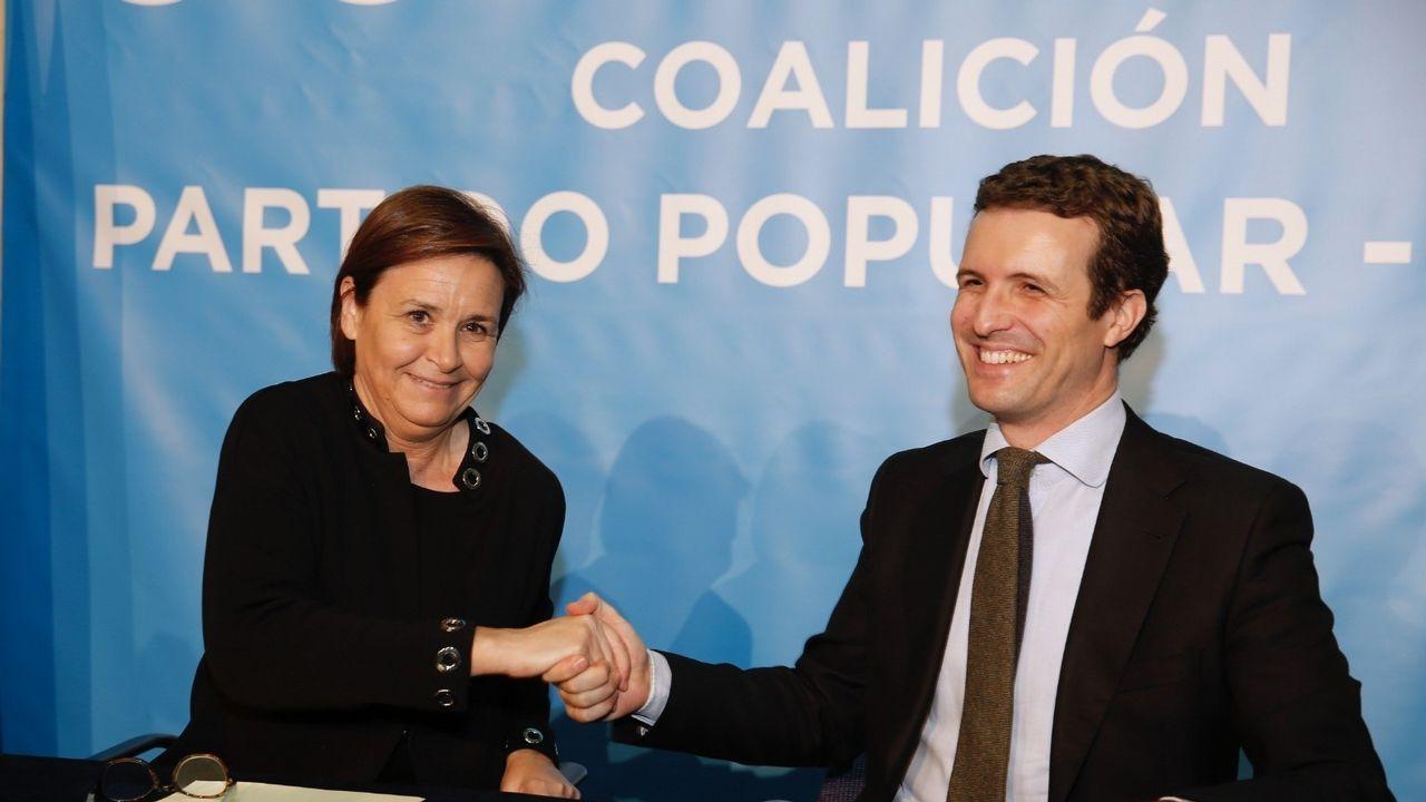 Carmen Moriyón y Pablo Casado
