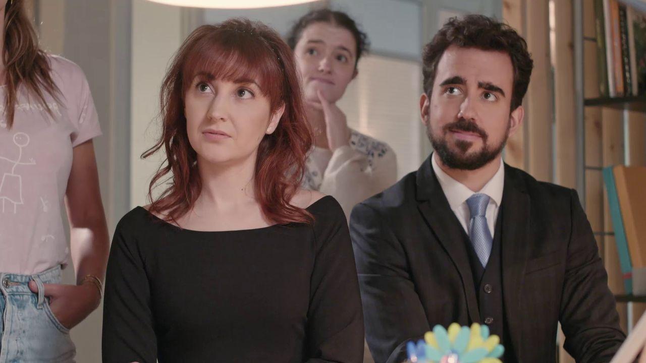 María Roja, con Miguel Canalejo nunha secuencia de  Método Criminal