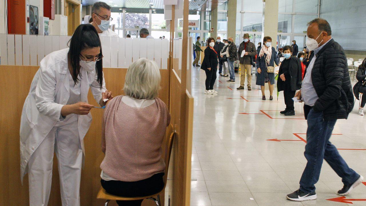 Vacunación contra el covid-19 en Fexdega de Vilagarcía