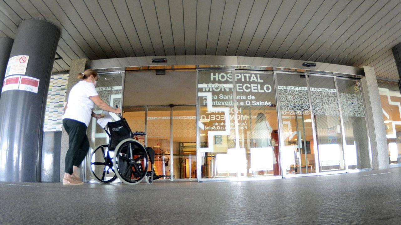 Tres pacientes de coronavirus están ingresados en el Hospital Montecelo, en Pontevedra, uno en planta y dos en la uci