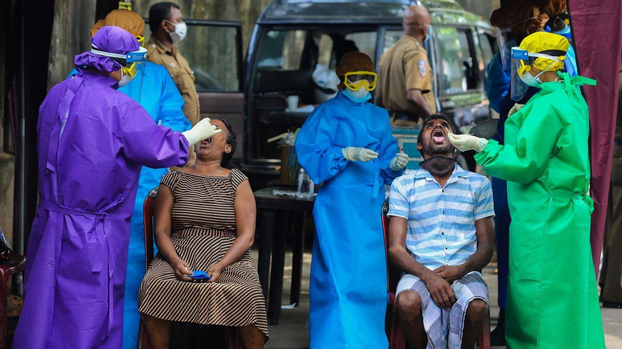 En Sri Lanka realizan pruebas de coronavirus a dos personas