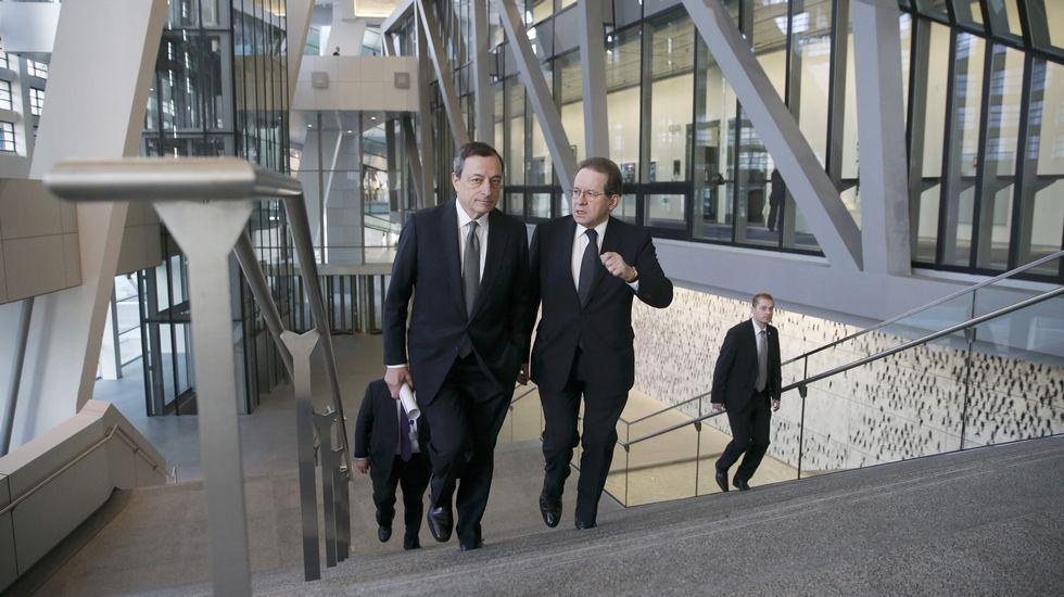 Draghi inaugura la nueva sede del BCE