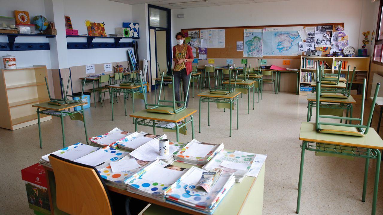 Preparación de aulas en el CEIP Ardán de Marín