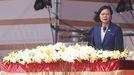 Tsai Ing-wen, ayer en el Día Nacional de Taiwán