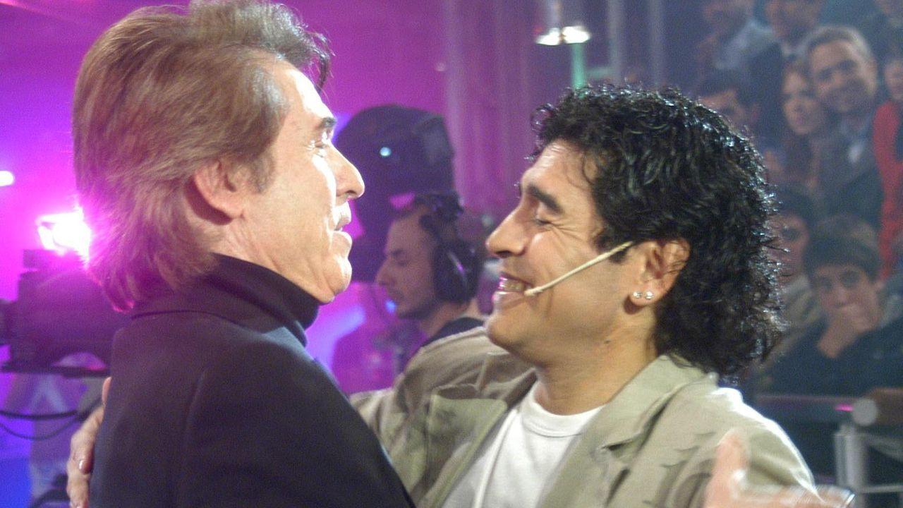 Con Raphael, en la televisión argentina en el 2005