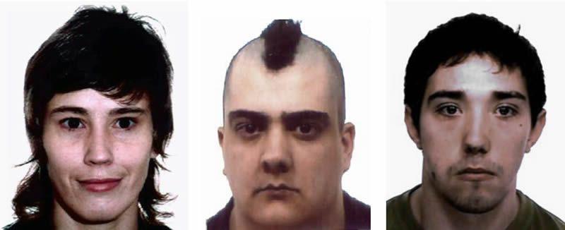 detenidos.María del Carmen Otero Martínez, Javier Omaña Casanova y Gabriel Rodríguez Cuervo