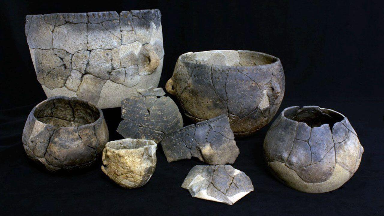 Cerámica procedente del yacimiento arqueológico de Verson (Francia)