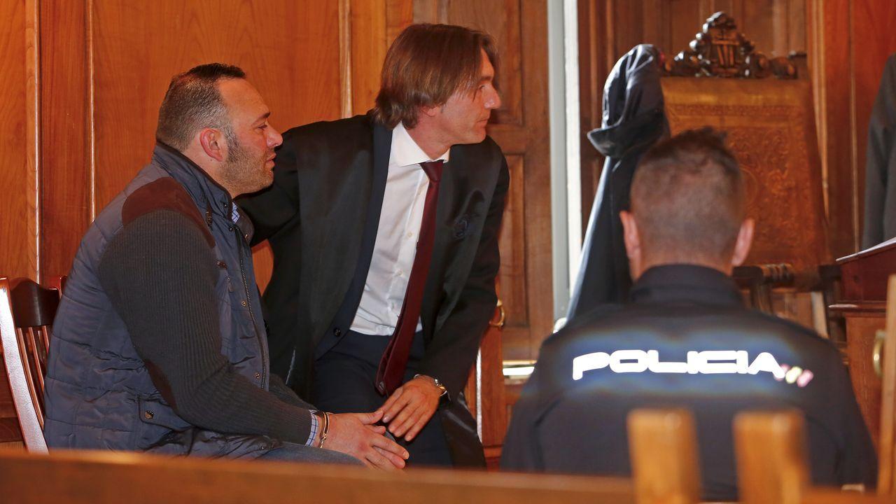 Última sesión del crimen de Ponte Caldelas.Marcos Vidal González, autor del crimen de Ponte Caldelas