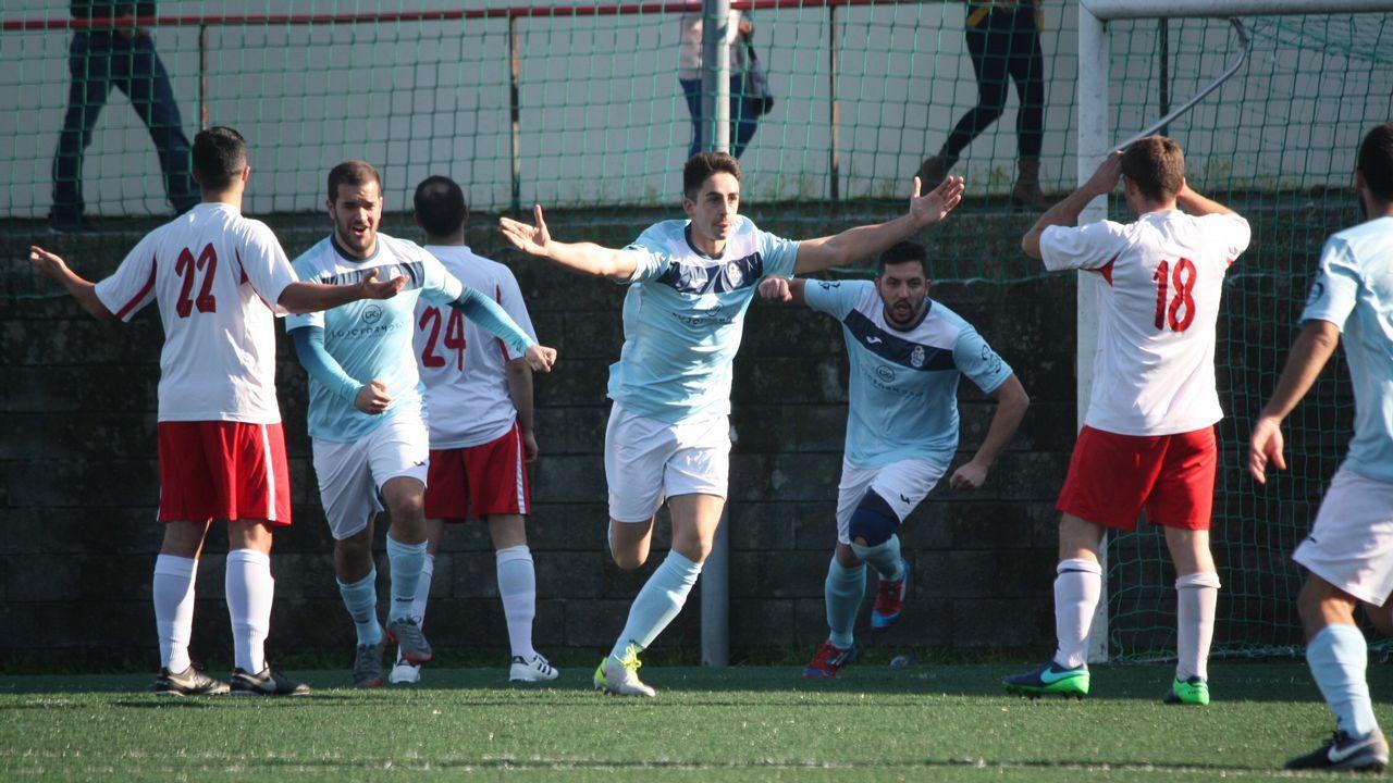 Partido de fútbol de Tercera División Boiro y Céltiga