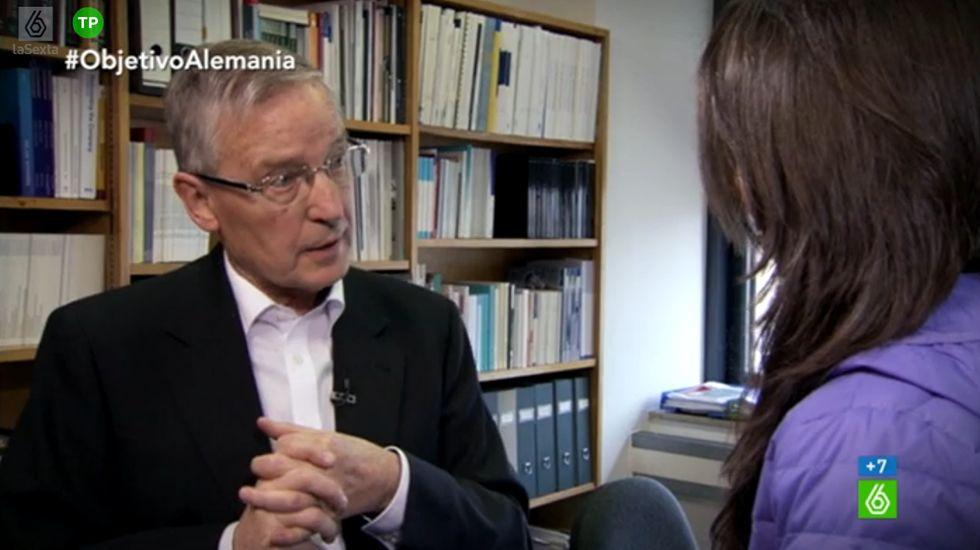 Juergen Donges: «Me preocupa que pueda llegar a gobernar Podemos. Incluso más que Syriza»