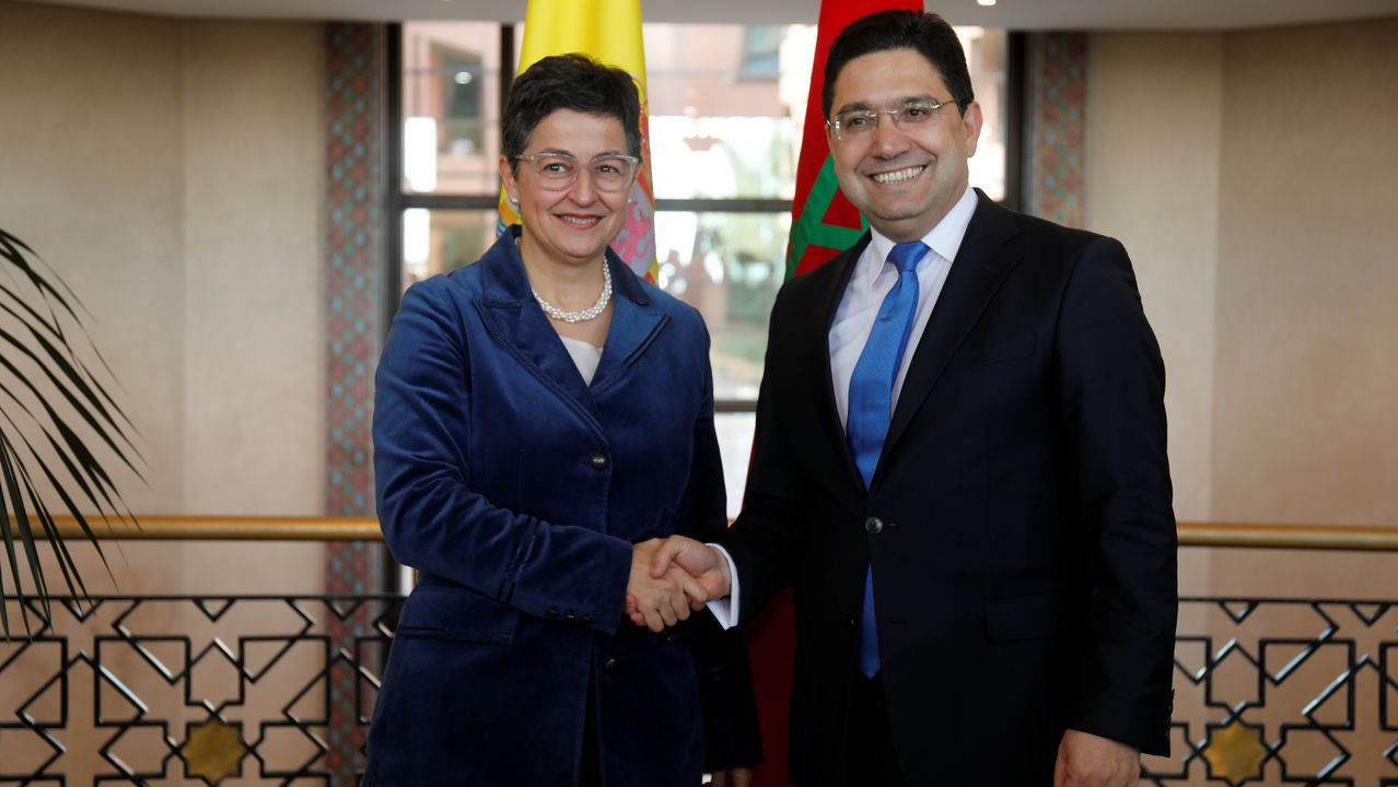 La ministra de Asuntos Exteriores, Arancha González Laya, se reunión este viernes en Rabat con su homólogo marroquí, Nasser Bourita