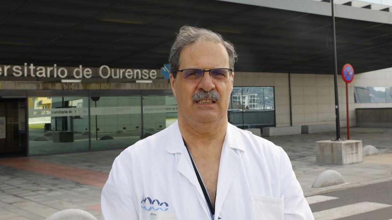 Javier Cid, jefe de servicio de la uci de Complexo Hospitalario de Ourense