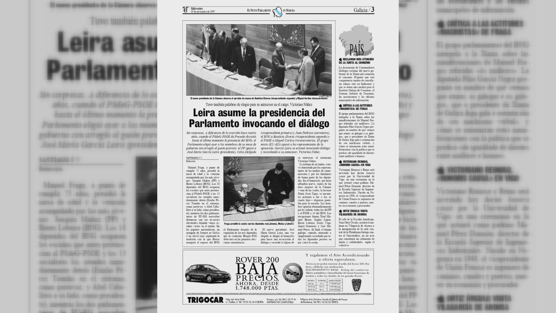 Leira se convirtió en nuevo presidente de O Hórreo en 1997
