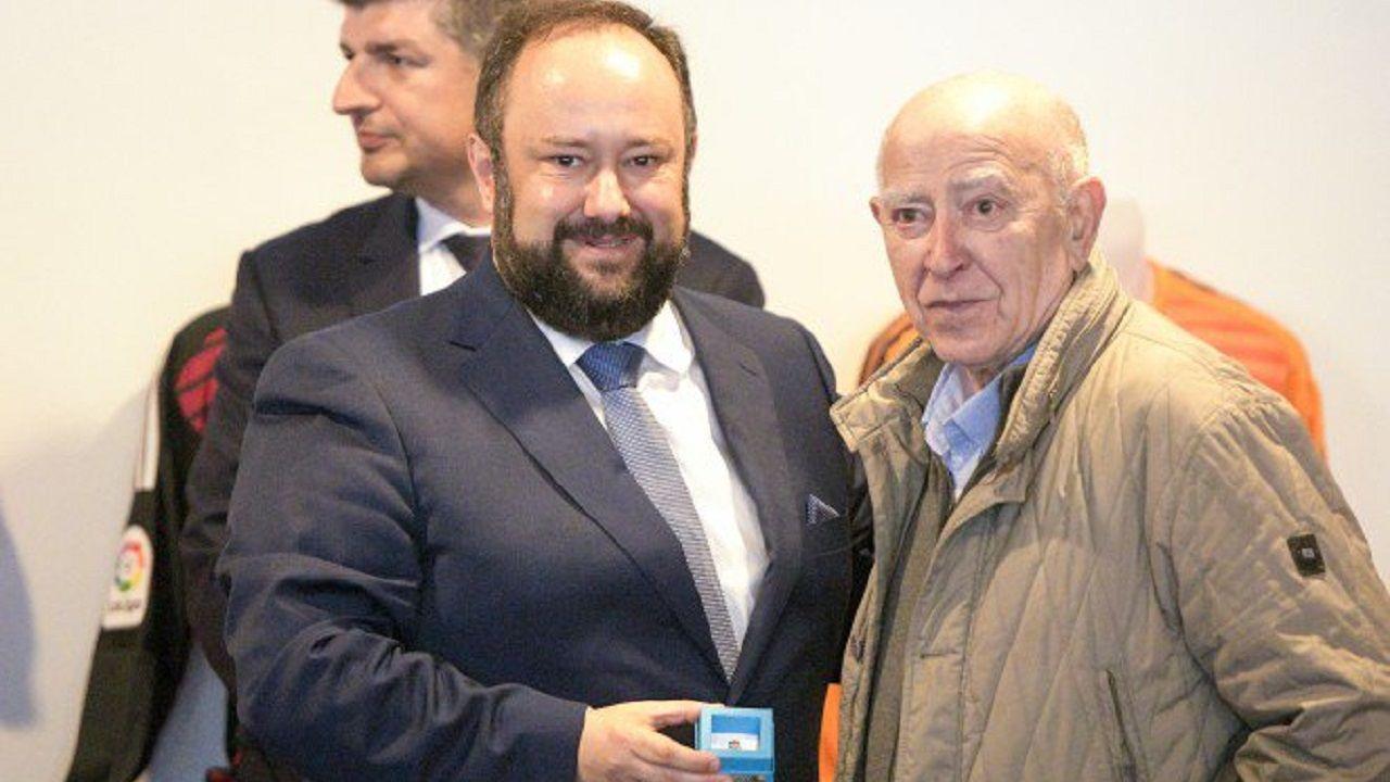 Celestino Rubiera con Jorge Menéndez Vallina