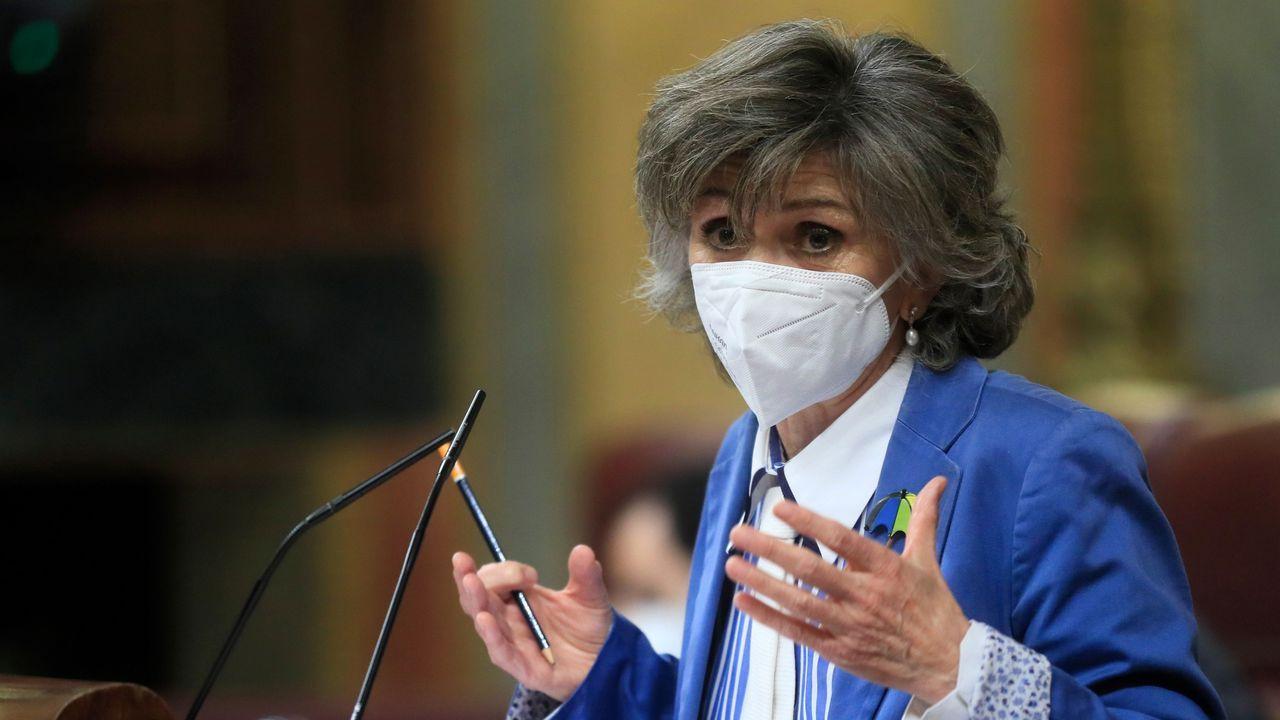 La representante de la Junta General del Principado de Asturias María Luisa Carcedo interviene durante la sesión plenaria del Congreso de los Diputados celebrada este martes en Madrid