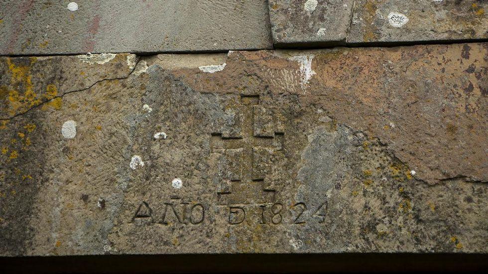 Una inscripción grabada en 1824 en la Casa Grande de Fiolleda