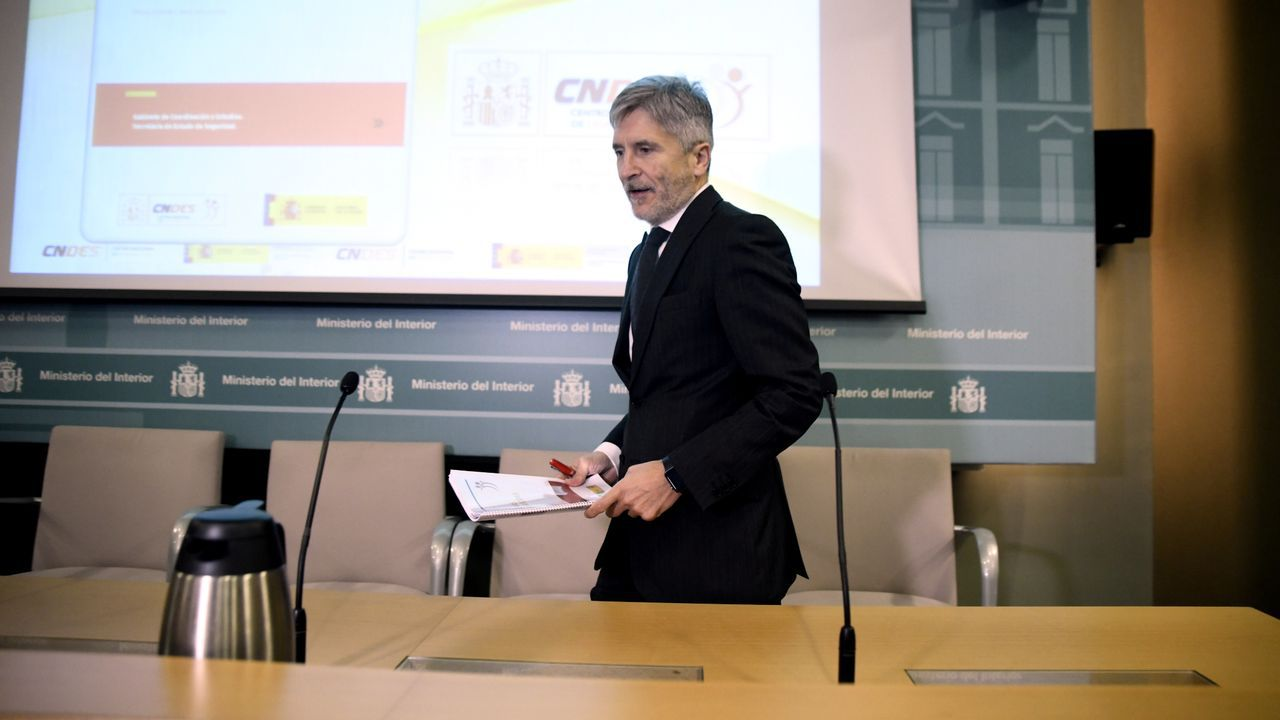 España roza los 40.000 casos de coronavirus.Grande-Marlaska, este lunes, en la presentación del informe de personas desaparecidas en España en el 2019