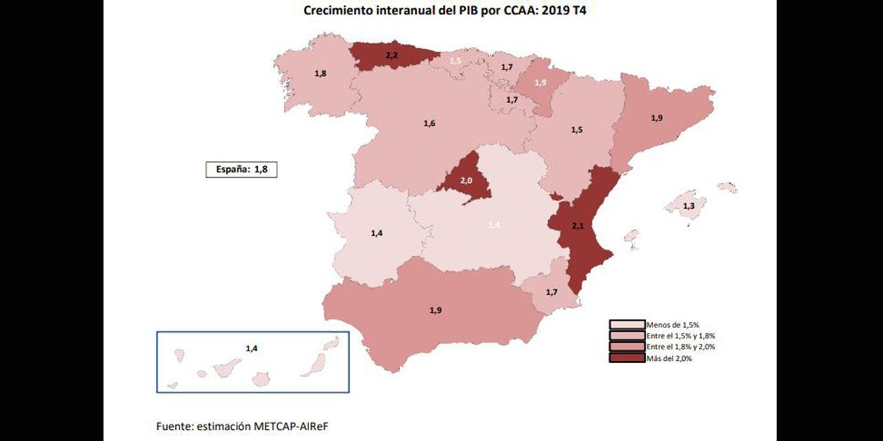EN DIRECTO: comparece la ministra Montero tras el Consejo de Política Fiscal y Financiera.Mapa de crecimiento del PIB por comunidades