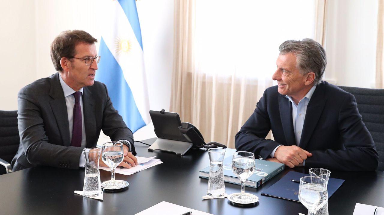 Feijoo fue recibido por el presidente argentino, Mauricio Macri