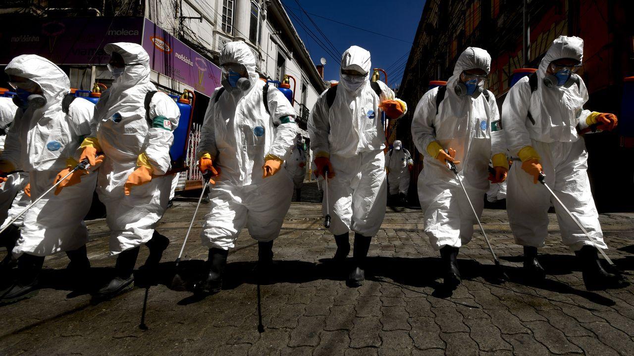 Tareas de desinfección en La Paz