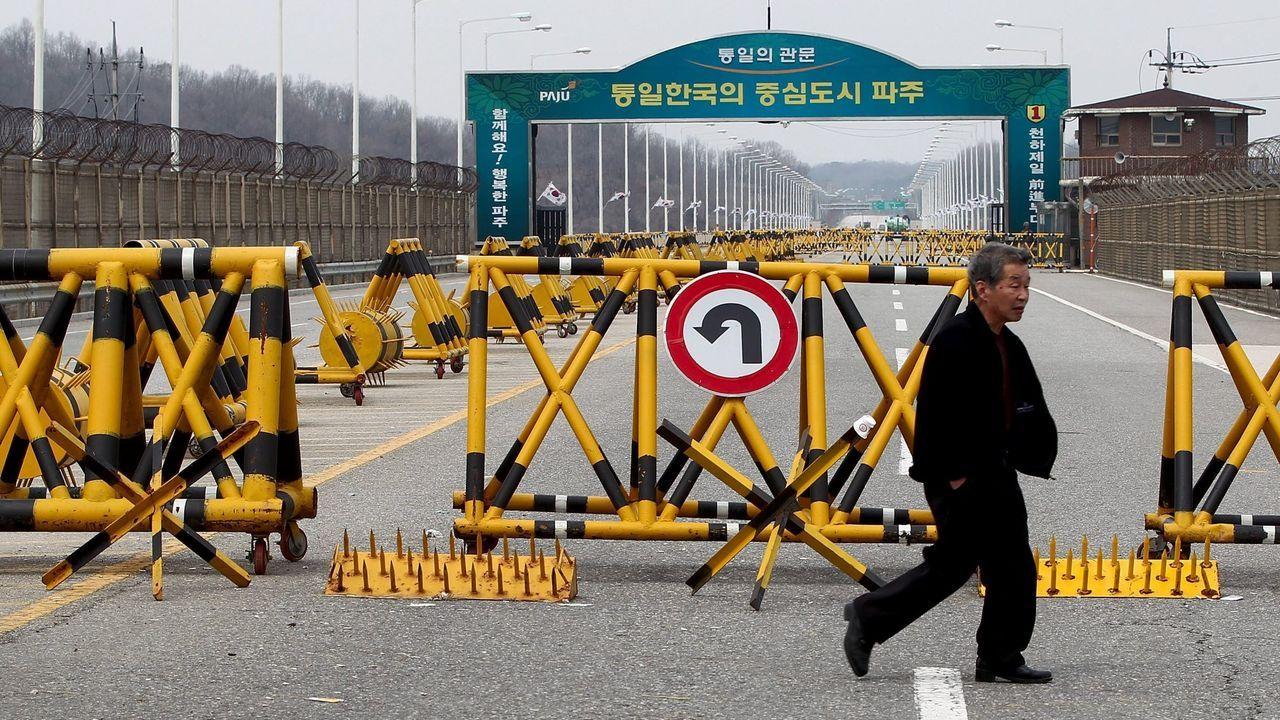 Frontera entre Corea del Sur y el Norte, en la denominada Línea de Demarcación Militar