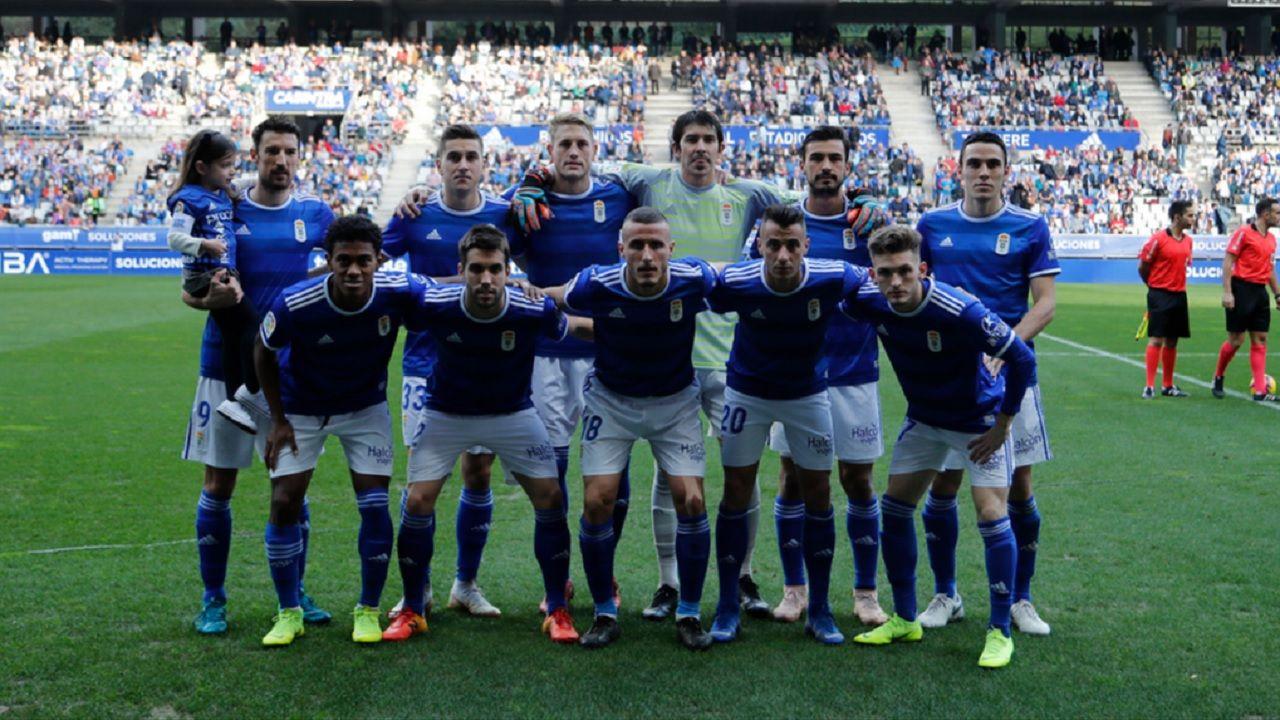 Real Oviedo Malaga alineacion Carlos Tartiere.Alineación del Real Oviedo frente al Málaga