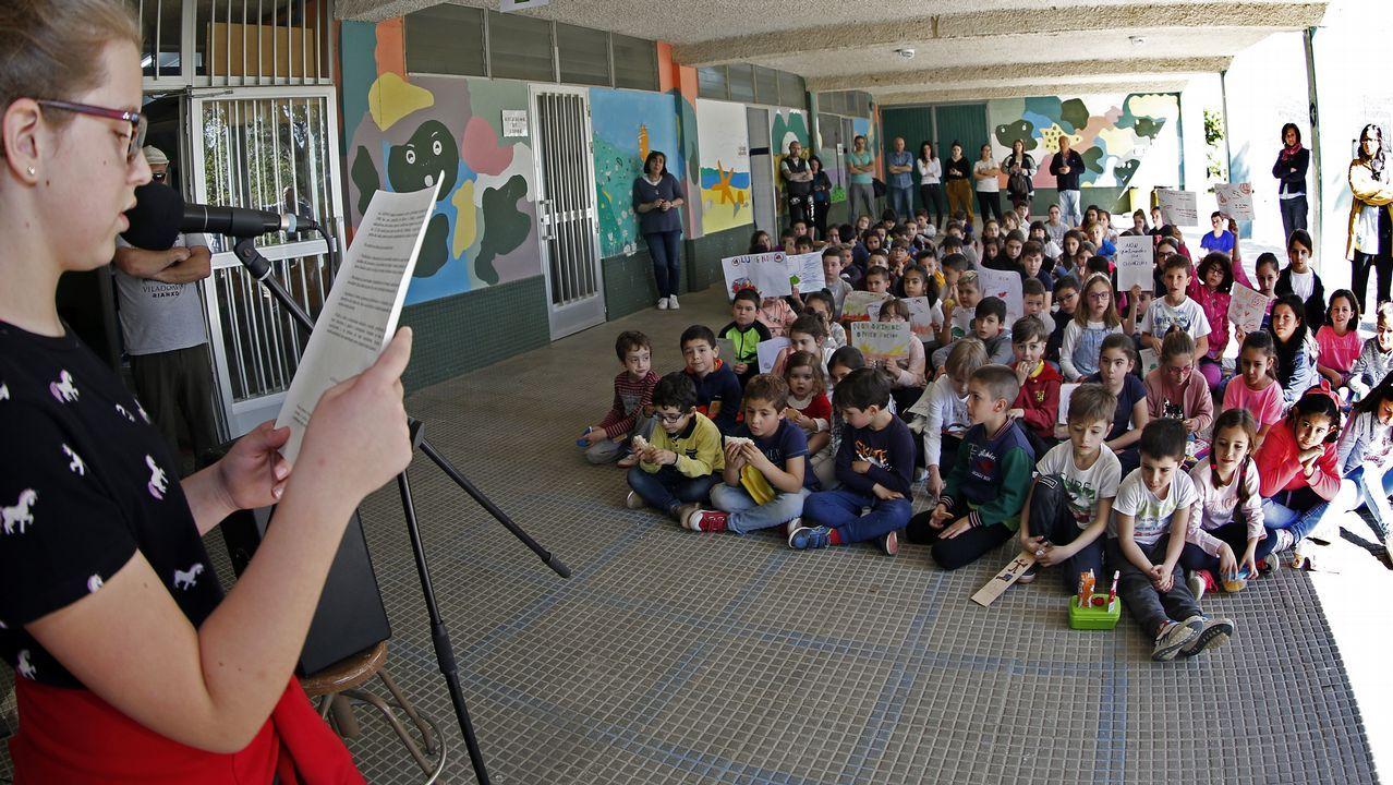 Los niños de Rianxo reivindican un futuro sin incendios, ¡mira las fotos!