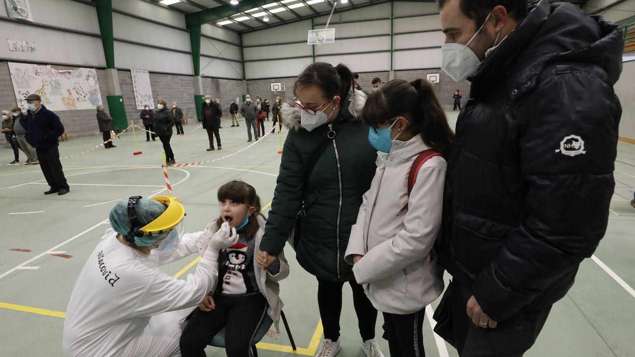 Imagen del cribado masivo realizado por el Sergas en O Vicedo, donde no se contabiliza en este momento ningún caso de coronavirus