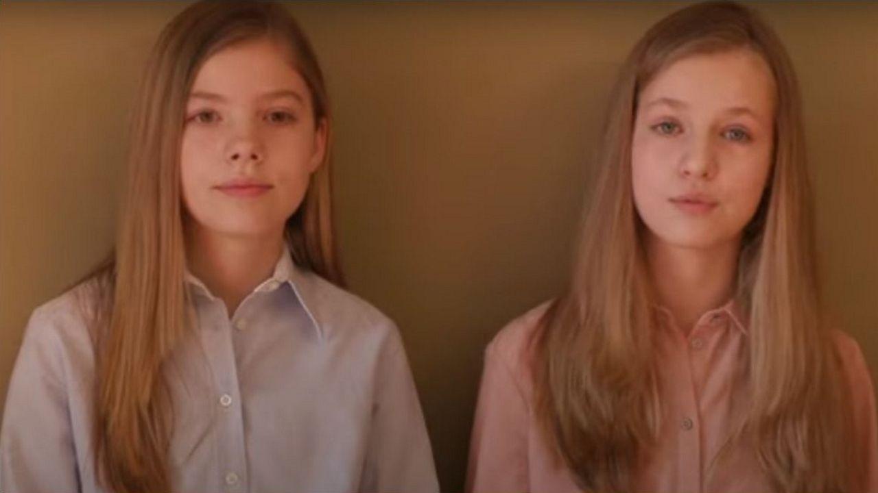 Mensaje de agradecimiento de las infantas Leonor y Sofía.Felipe VI y la princesa Leonor llegan al palacio de Marivent