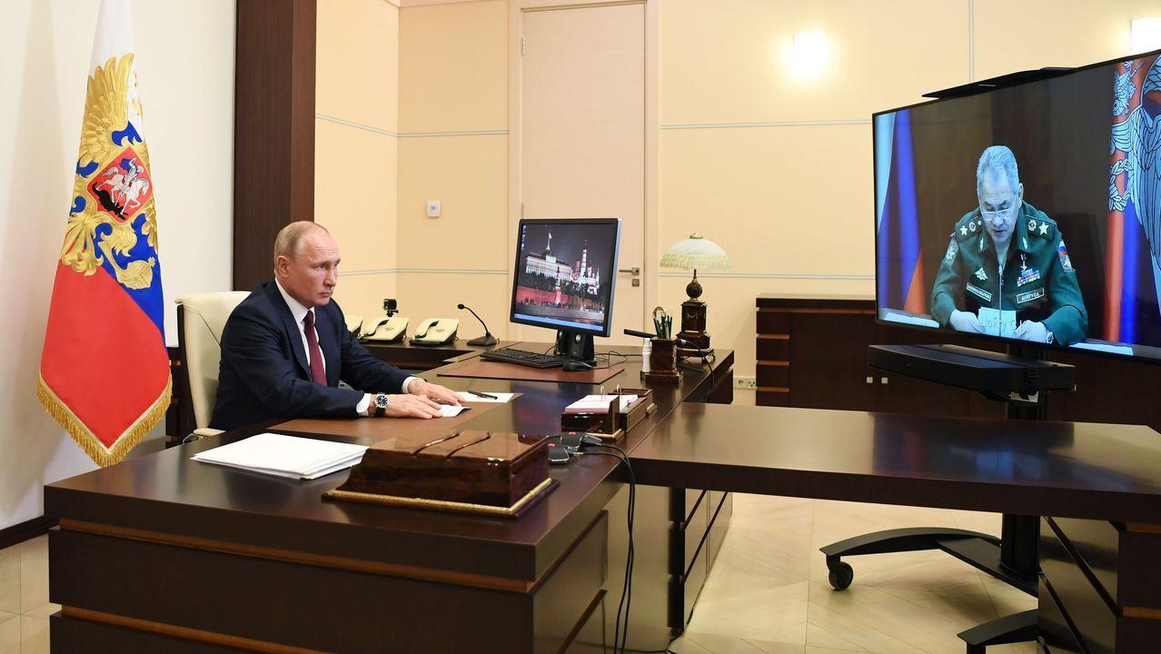 Putin mantuvo ayer una videoconferencia con su ministro de Defensa