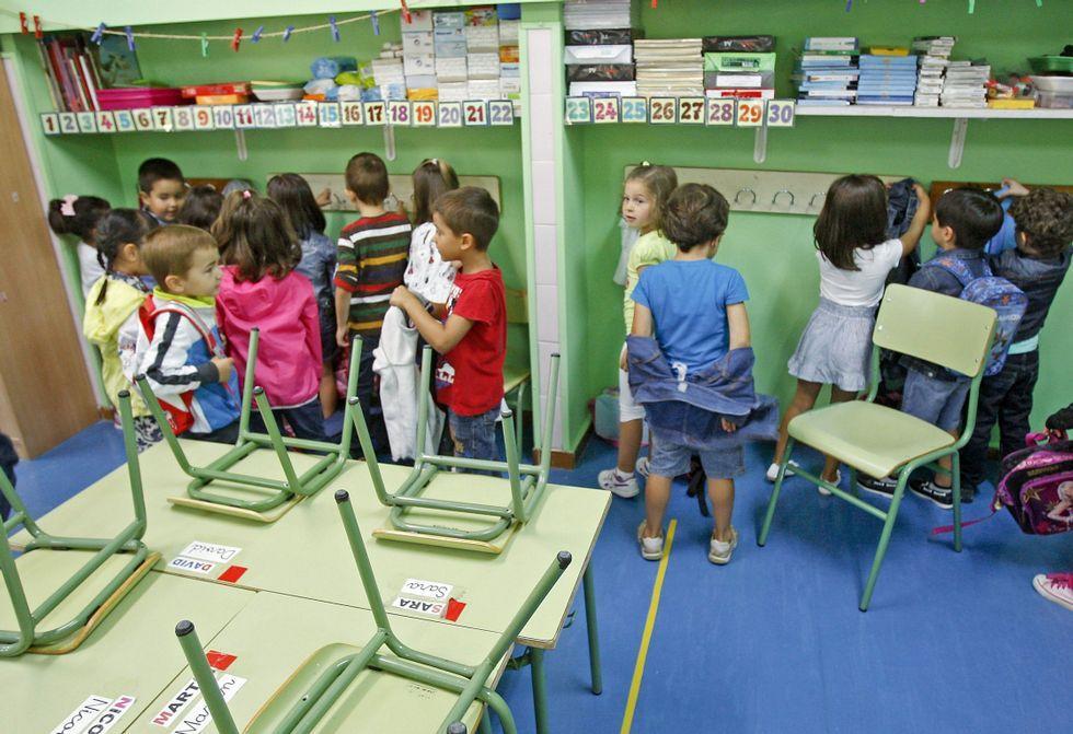 El colegio público Manuel Vidal Portela de Pontevedra, en una imagen de un inicio de curso.
