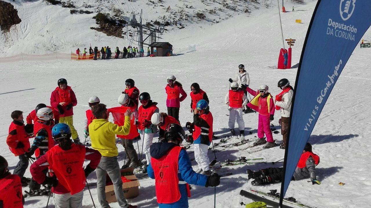 Arranca la temporada de esquí en Manzaneda.Esta imagen no será posible hoy en Cabeza de Manzaneda