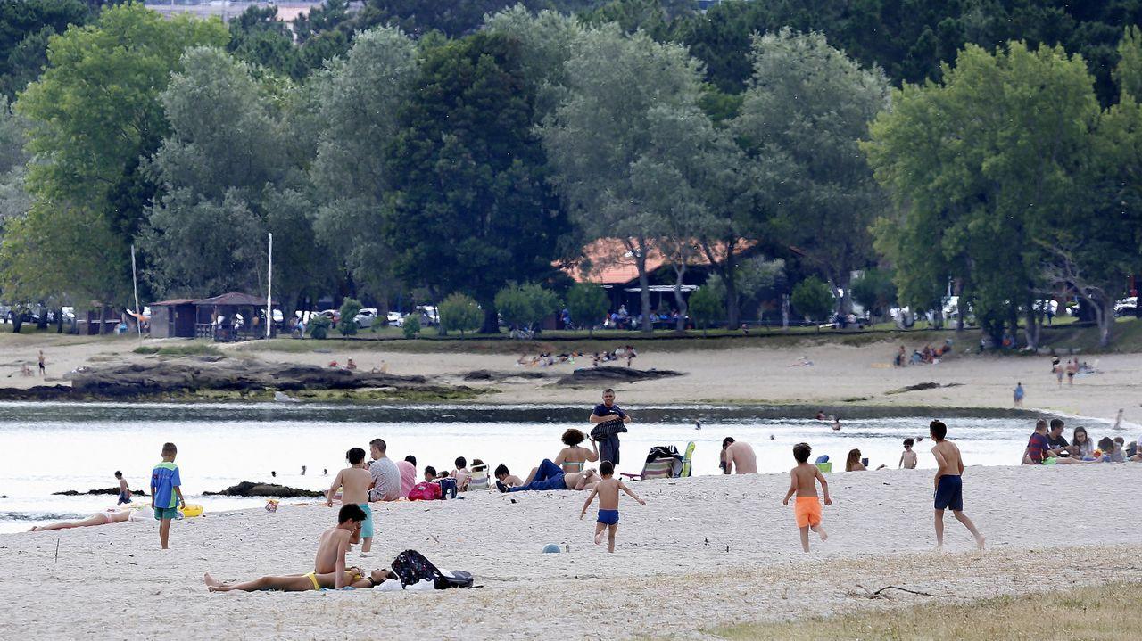 Playa de Barraña, en Boiro