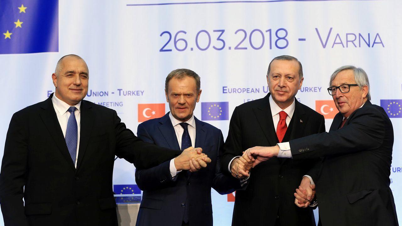 El día después del ataque sobre Siria.Rohaní, Erdogan y Putin se reunieron en la capital turca para tratar el conflicto sirio