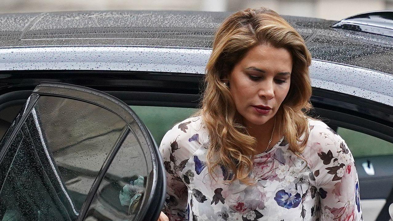 La princesa Haya, a su llegada al alto tribunal de Londres.
