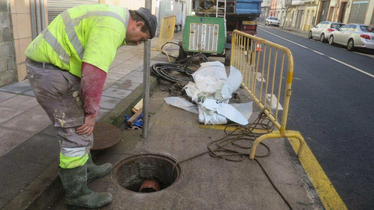 Obras en el alcantarillado en la calle Valle-Inclán