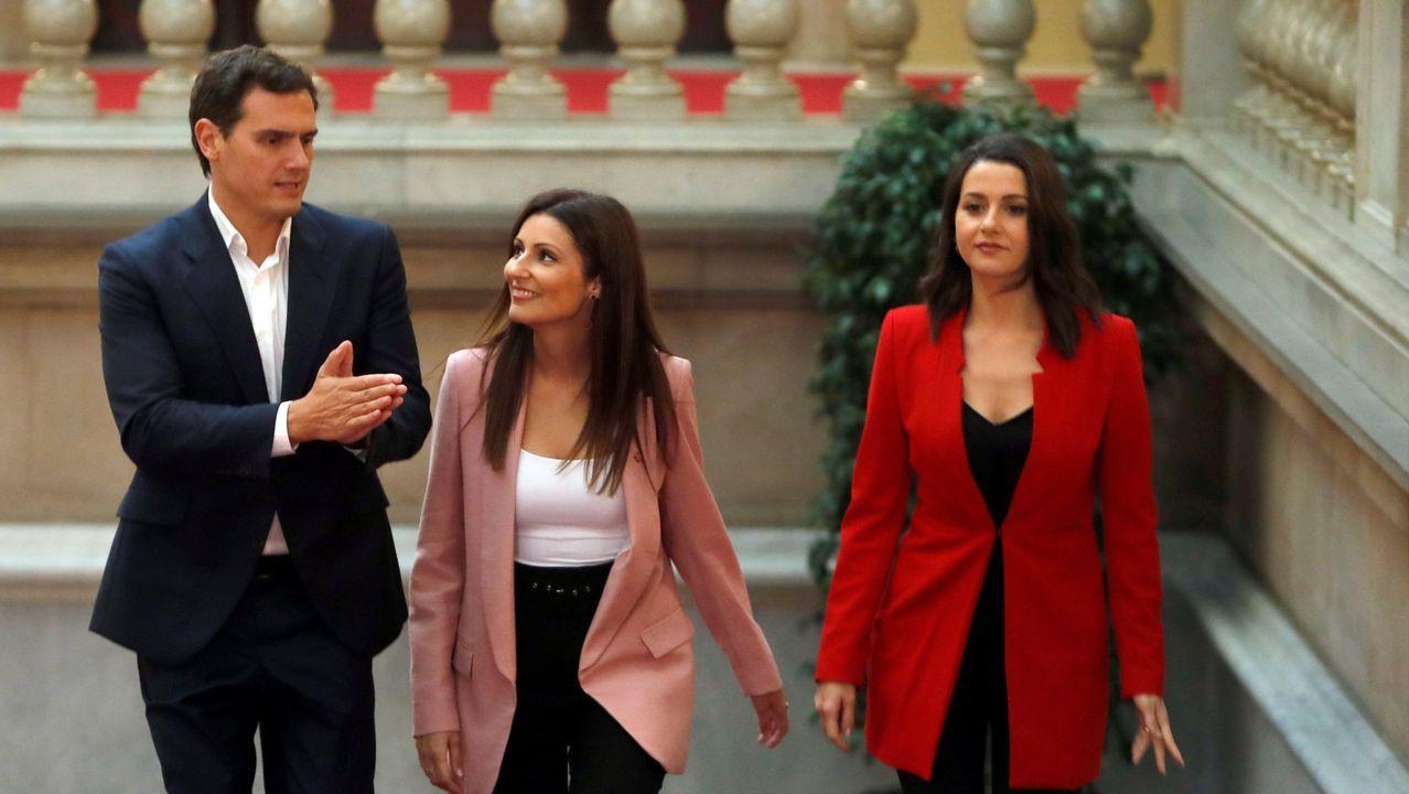 Rivera, con Lorena Roldán y Arrimadas, en una imagen del 2019