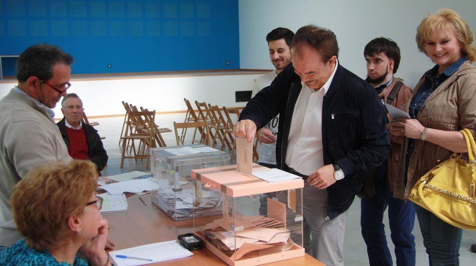 Votación de José Crespo, candidato al Senado, en Lalín