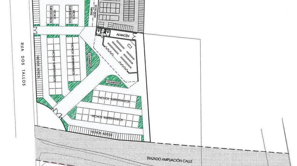 Plano del nuevo cementerio, que será construido justo al lado del actual