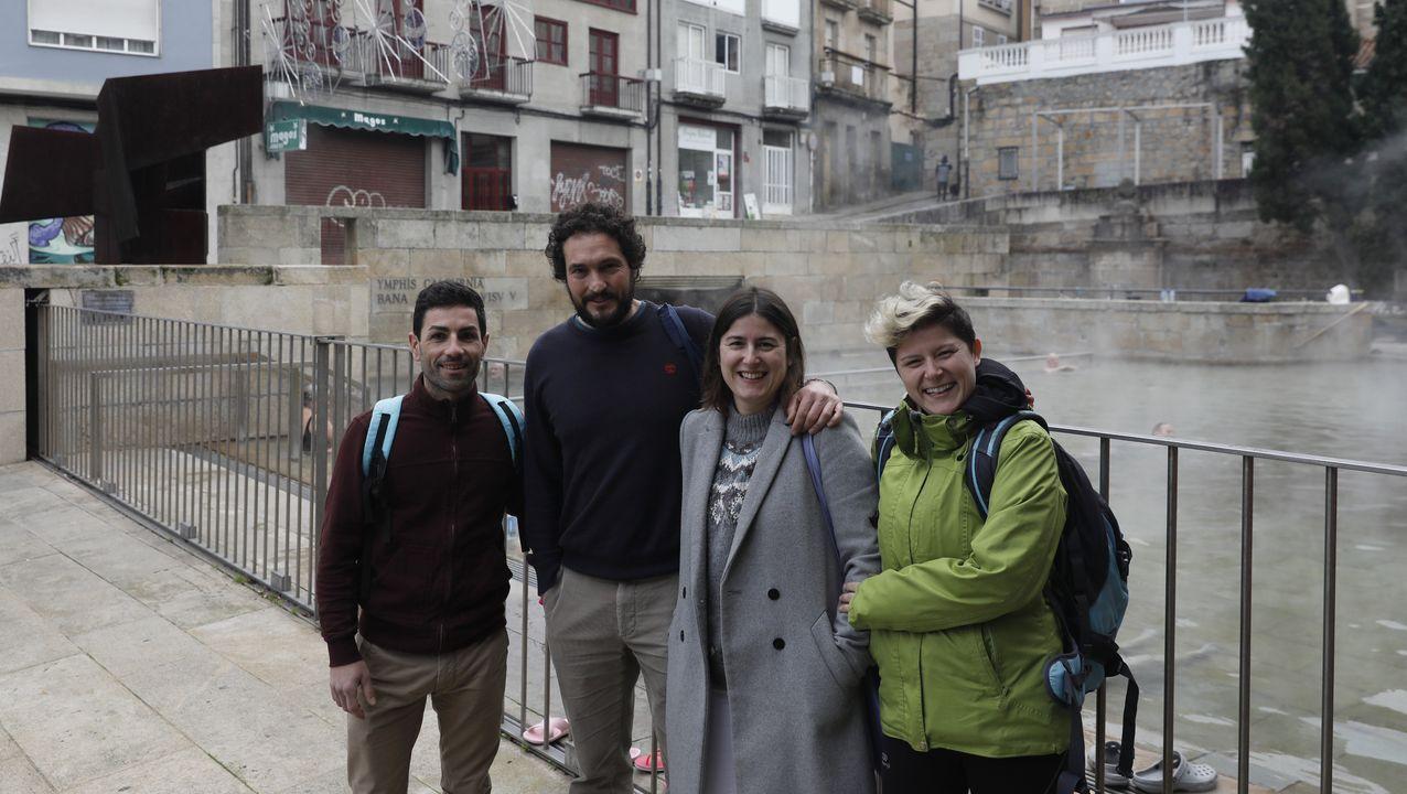 Teresa Mallada, Pablo Casado y Mercedes Fernández