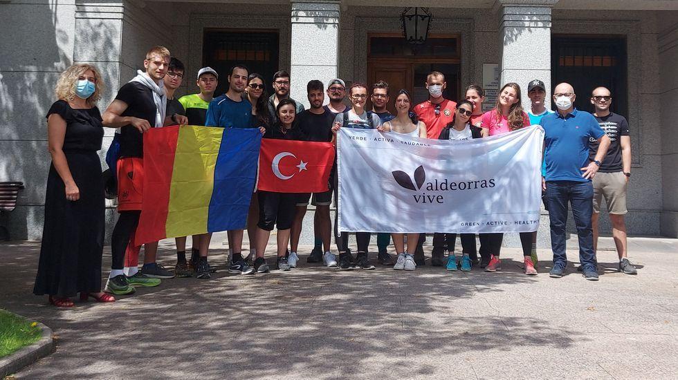 Los participantes en el intercambio visitaron O Barco de Valdeorras